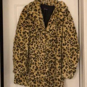 EUC Leopard print coat